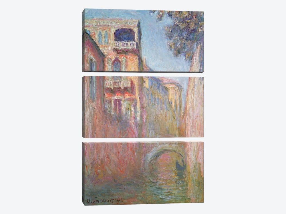 Venice - Rio de Santa Salute, 1908  by Claude Monet 3-piece Canvas Print