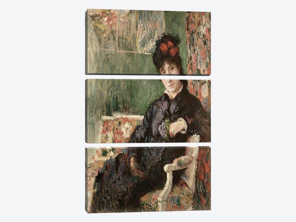Portrait de Madame Camille Monet, c.1875-78  by Claude Monet 3-piece Canvas Art