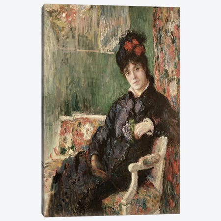 Portrait de Madame Camille Monet, c.1875-78  3-Piece Canvas #BMN2581} by Claude Monet Art Print
