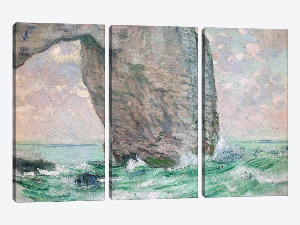 La Manneporte a Etretat, c.1883-85  by Claude Monet 3-piece Canvas Print