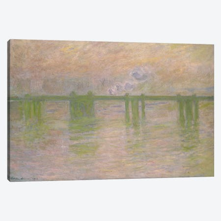 Charing Cross Bridge, 1902  Canvas Print #BMN2583} by Claude Monet Art Print