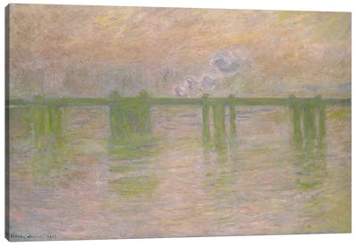 Charing Cross Bridge, 1902  Canvas Print #BMN2583