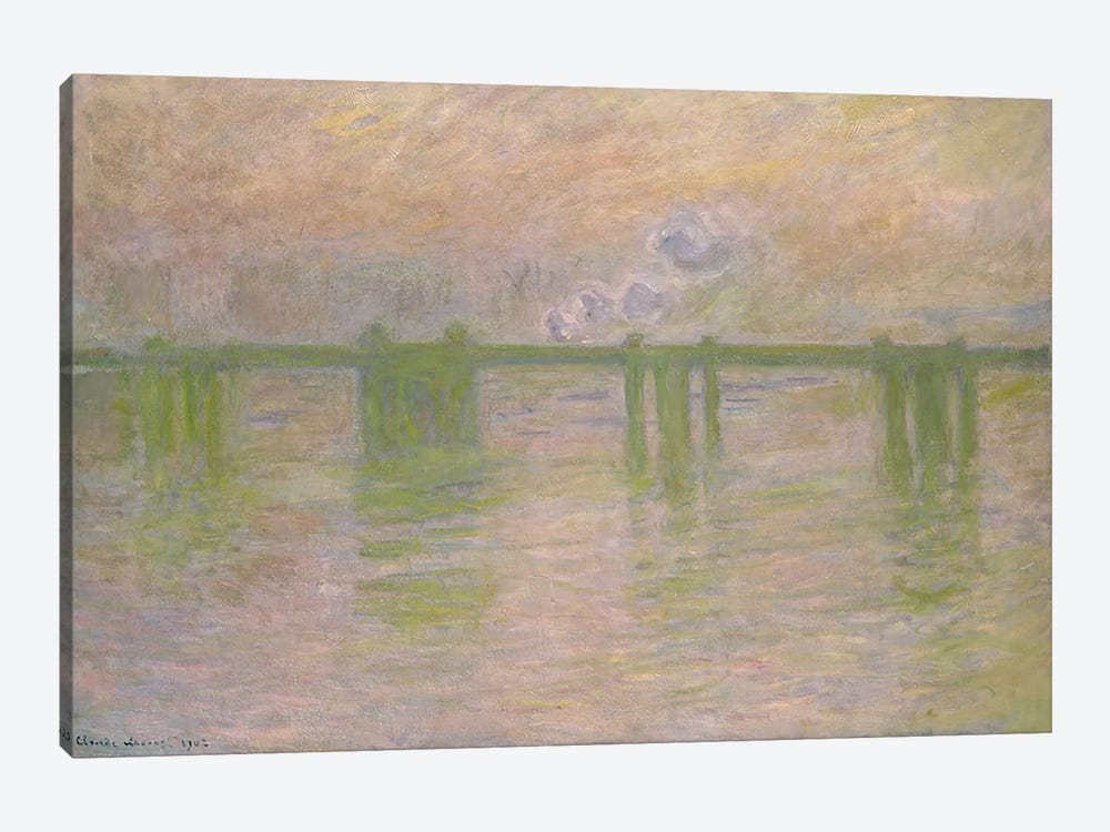 Charing Cross Bridge, 1902  by Claude Monet 1-piece Canvas Wall Art