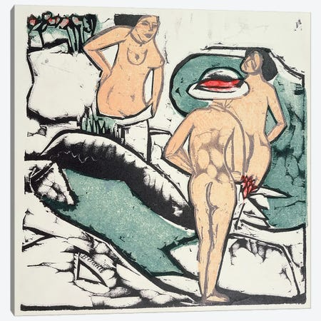 Nude Women  Canvas Print #BMN2587} by Ernst Ludwig Kirchner Canvas Art