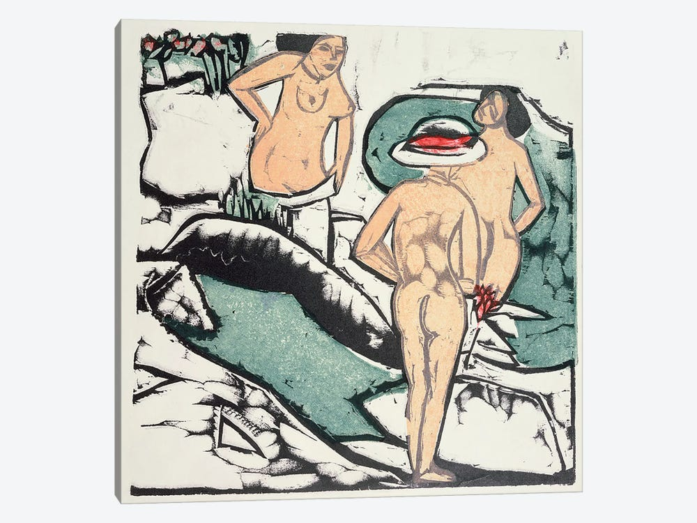 Nude Women  by Ernst Ludwig Kirchner 1-piece Canvas Wall Art