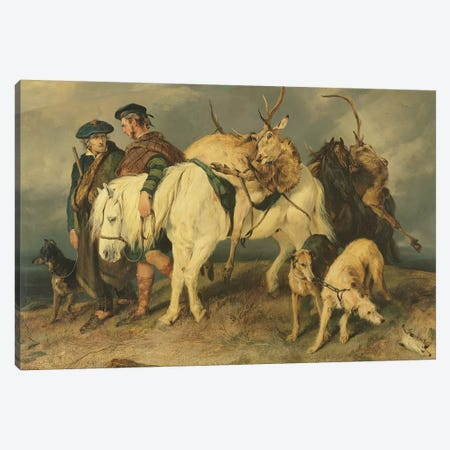The Deerstalkers' Return, 1827  Canvas Print #BMN2588} by Sir Edwin Landseer Canvas Print