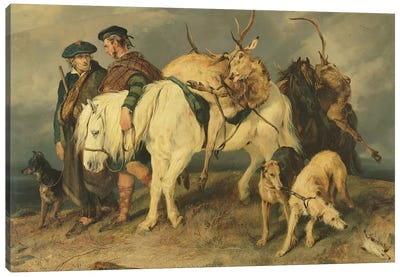 The Deerstalkers' Return, 1827  Canvas Art Print