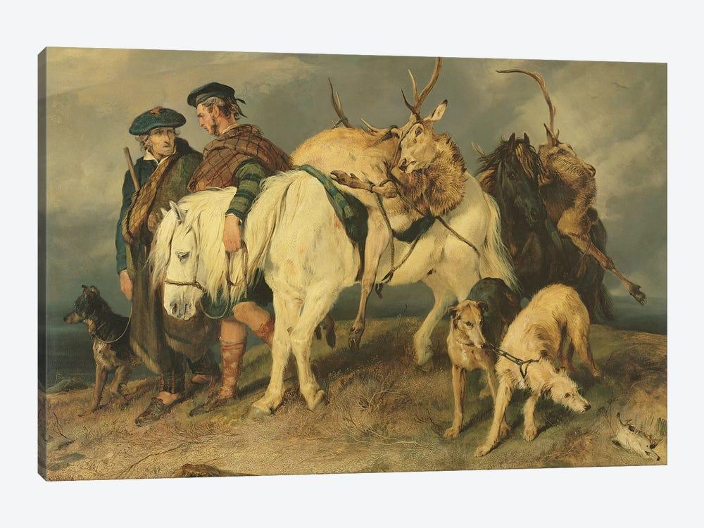 The Deerstalkers' Return, 1827  by Sir Edwin Landseer 1-piece Canvas Print
