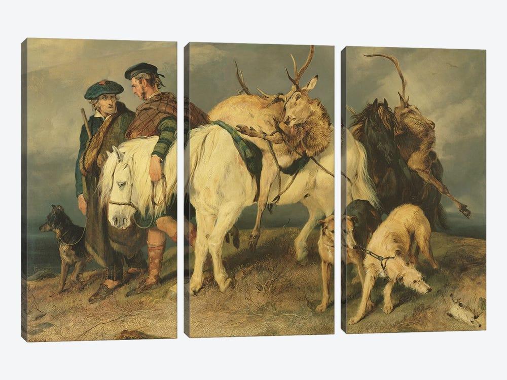 The Deerstalkers' Return, 1827  by Sir Edwin Landseer 3-piece Art Print
