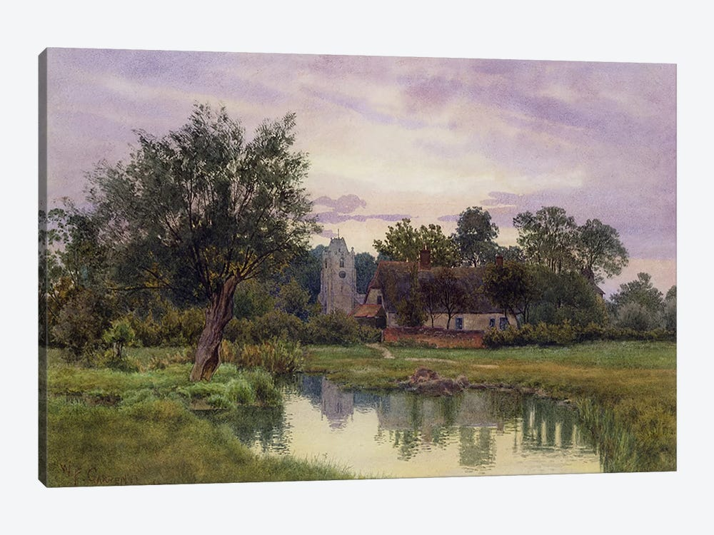 Evening, Hemingford Grey Church, Huntingdonshire  by William Fraser Garden 1-piece Canvas Art