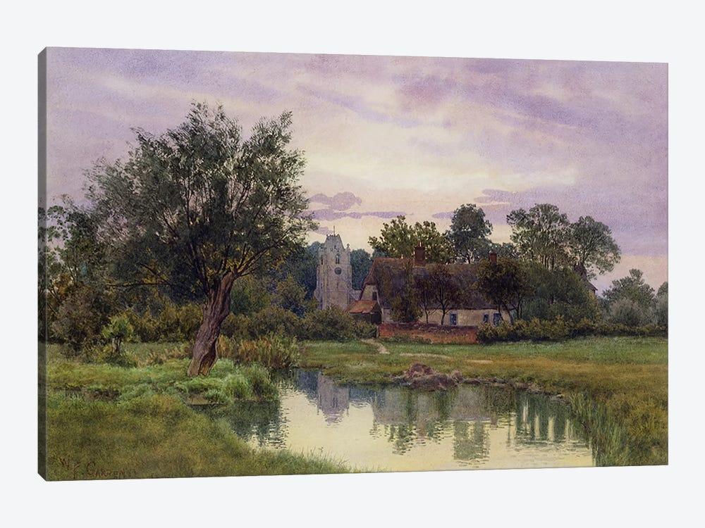 Evening, Hemingford Grey Church, Huntingdonshire  by William Fraser Garden 1-piece Canvas Art