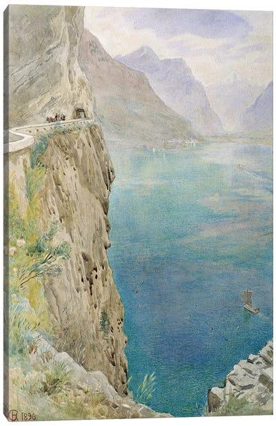 On the Italian Coast, 1896  Canvas Art Print