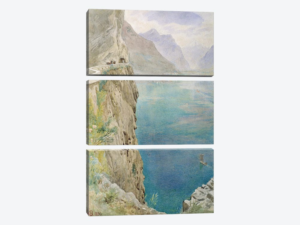 On the Italian Coast, 1896  by Harry Goodwin 3-piece Canvas Artwork