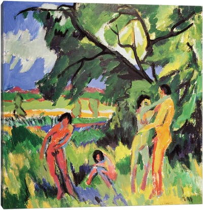 Nudes Playing under Tree, 1910  Canvas Art Print