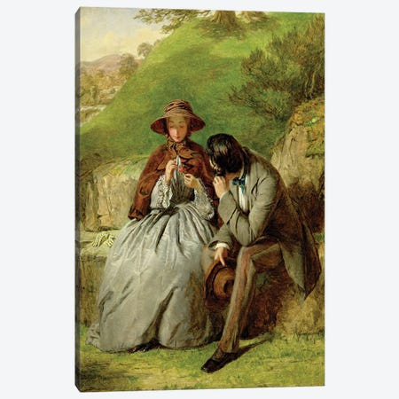 Lovers, 1855  Canvas Print #BMN2593} by William Powell Frith Canvas Art