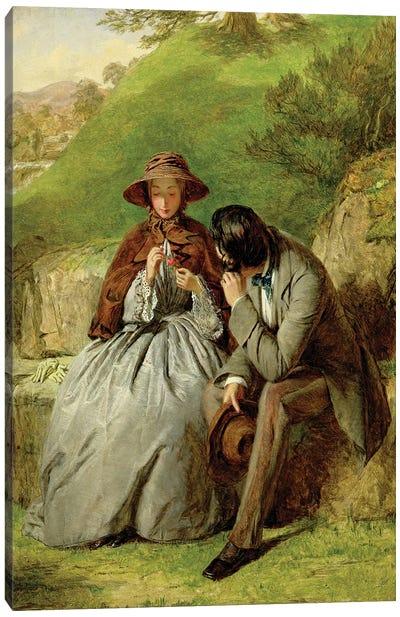 Lovers, 1855  Canvas Art Print