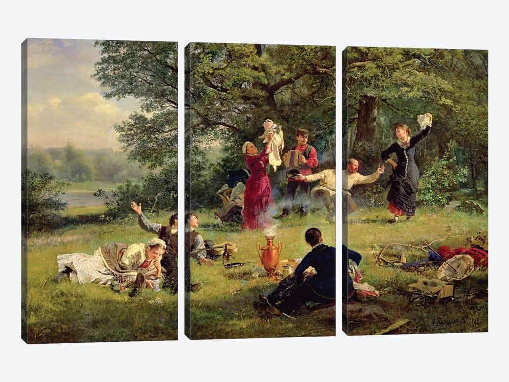 Sunday, 1884  by Alexei Korsuchin 3-piece Canvas Artwork