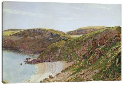 Anstey's Cove, South Devon  Canvas Art Print