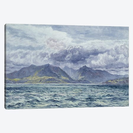 Isle of Arran, 7th August 1883  Canvas Print #BMN2596} by John Brett Canvas Print