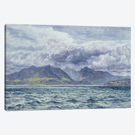 Isle of Arran, 7th August 1883  Canvas Print #BMN2596} by John Brett Canvas Print