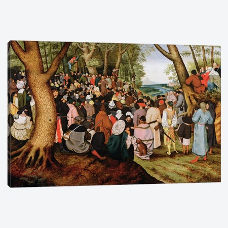 Landscape with St. John the Baptist Preaching  Canvas Print #BMN2597} by Pieter Brueghel the Younger Canvas Art Print