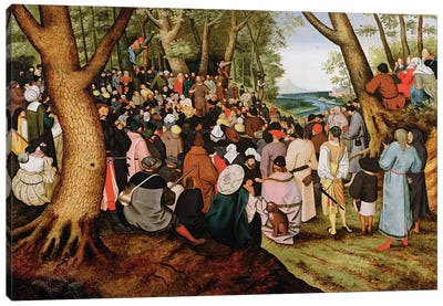 Landscape with St. John the Baptist Preaching  Canvas Art Print