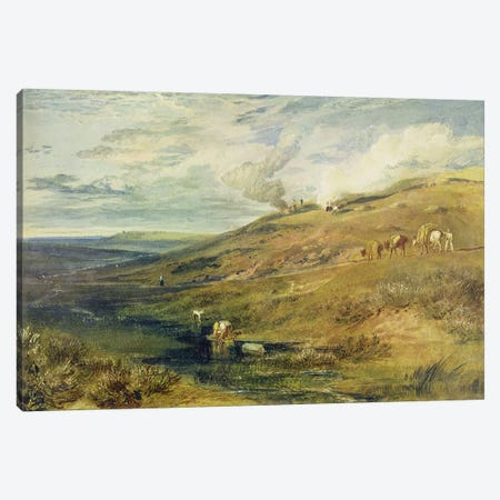 Dartmoor: The Source of the Tamar and the Torridge, c.1813  Canvas Print #BMN2599} by J.M.W Turner Canvas Artwork