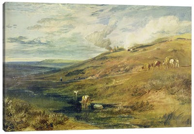 Dartmoor: The Source of the Tamar and the Torridge, c.1813 by J.M.W Turner Canvas Artwork