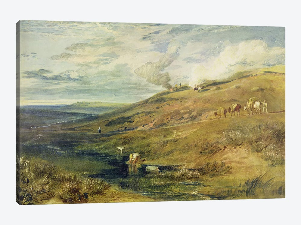 Dartmoor: The Source of the Tamar and the Torridge, c.1813 by J.M.W. Turner 1-piece Canvas Art Print