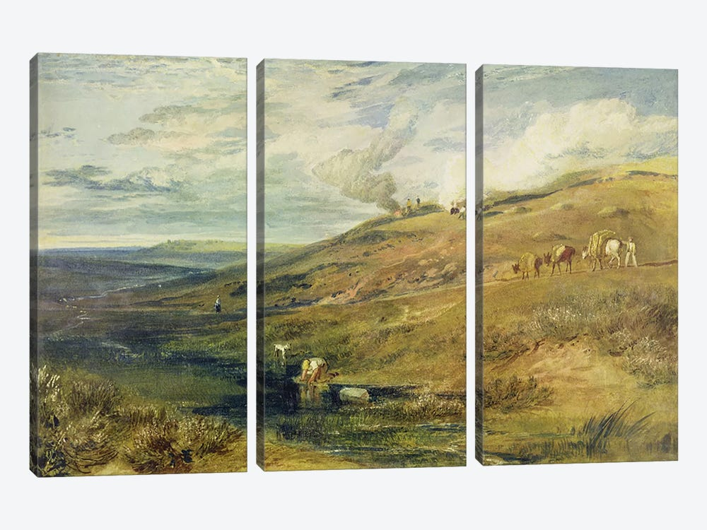 Dartmoor: The Source of the Tamar and the Torridge, c.1813 by J.M.W. Turner 3-piece Art Print