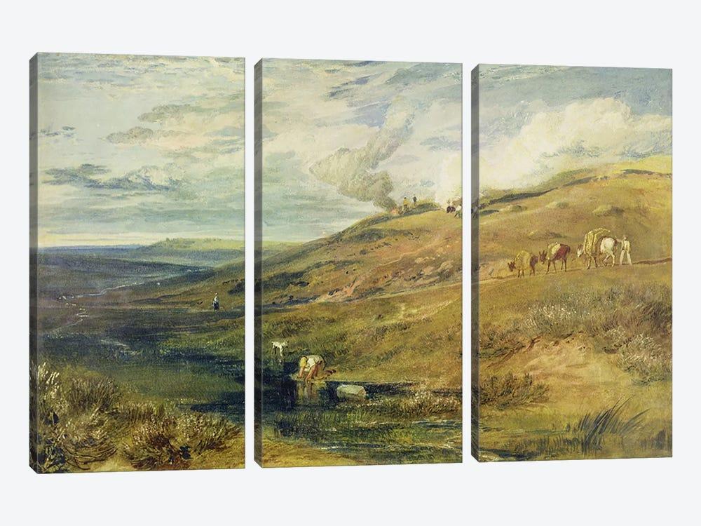 Dartmoor: The Source of the Tamar and the Torridge, c.1813  by J.M.W. Turner 3-piece Art Print