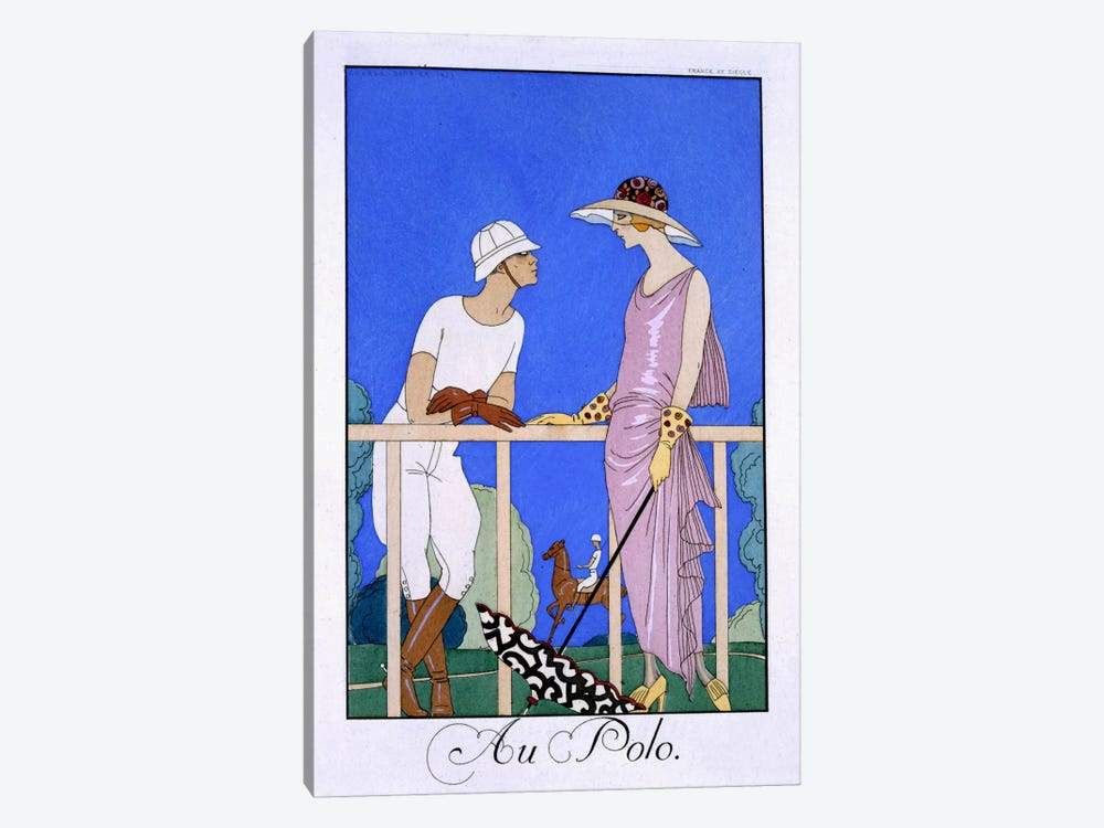 At Polo, 1920-29 (pochoir print) by George Barbier 1-piece Art Print