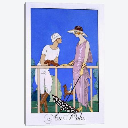 At Polo, 1920-29 (pochoir print) Canvas Print #BMN25} by George Barbier Canvas Print