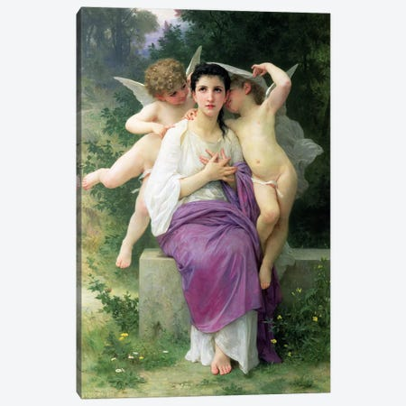 The Heart's Awakening, 1892  Canvas Print #BMN2600} by William-Adolphe Bouguereau Canvas Artwork