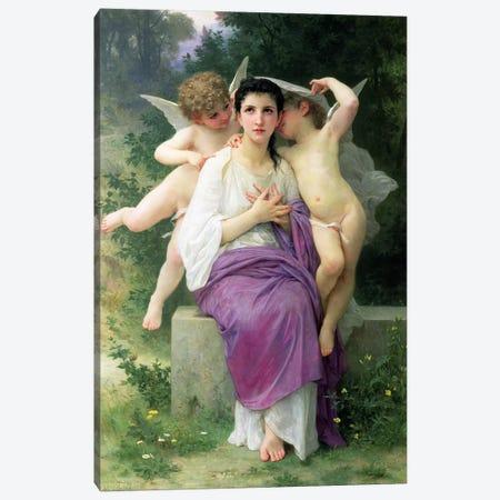 The Heart's Awakening, 1892  Canvas Print #BMN2600} by William-Adolphe Bouguereau Canvas Artwork