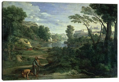 Landscape with Diogenes, 1648  Canvas Art Print