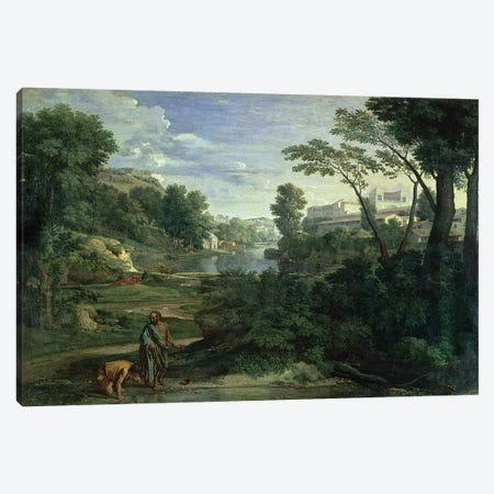 Landscape with Diogenes, 1648  Canvas Print #BMN2603} by Nicolas Poussin Canvas Wall Art