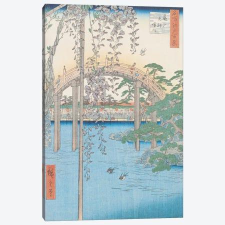 Kameido Tenjin keidai (Inside Kameido Tenjin Shrine) Canvas Print #BMN2605} by Utagawa Hiroshige Canvas Print