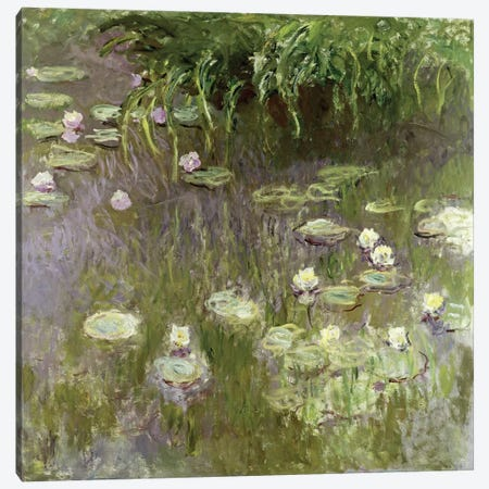 Waterlilies at Midday, 1918  Canvas Print #BMN2606} by Claude Monet Art Print