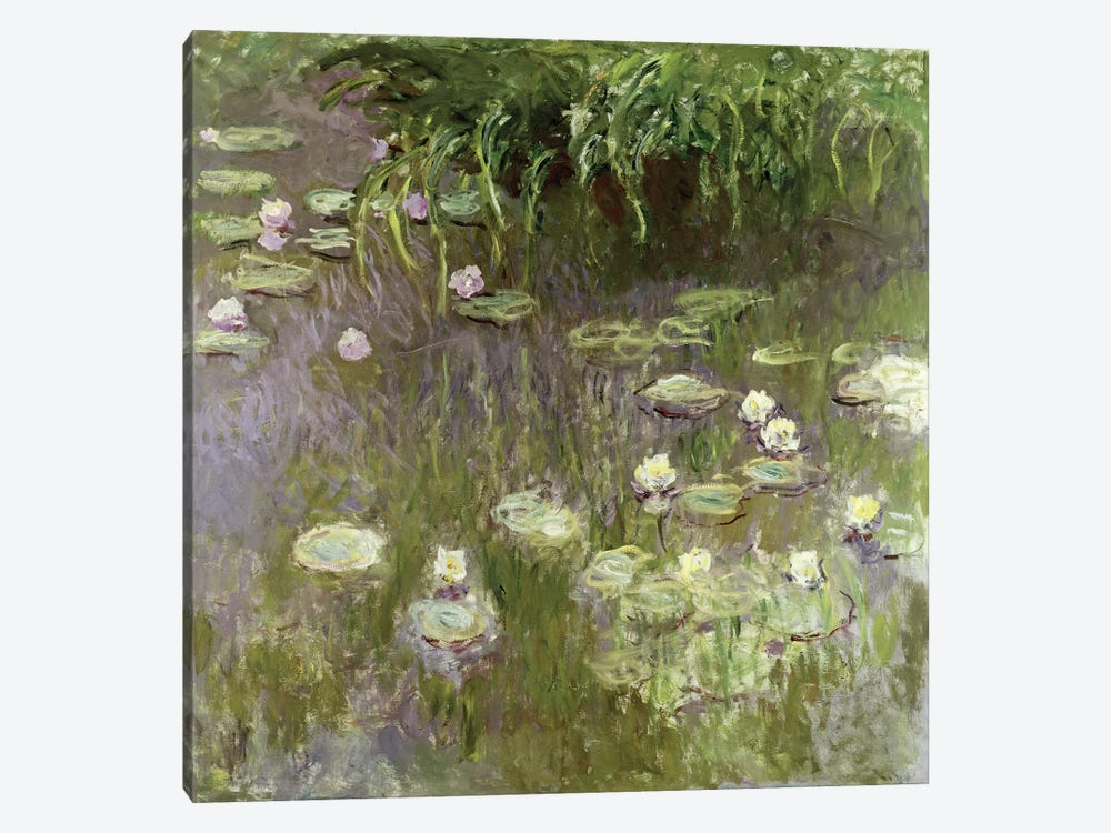 Waterlilies at Midday, 1918  by Claude Monet 1-piece Canvas Print