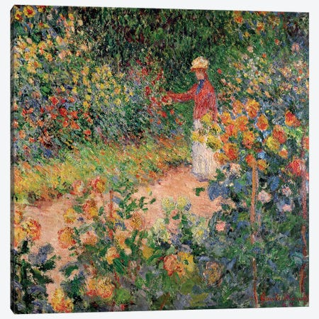 Garden at Giverny, 1895  Canvas Print #BMN2607} by Claude Monet Art Print
