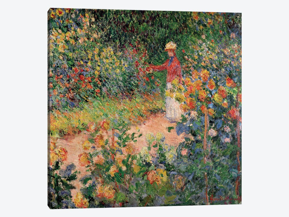 Garden at Giverny, 1895  by Claude Monet 1-piece Canvas Art
