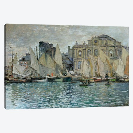 View of Le Havre, 1873  Canvas Print #BMN2609} by Claude Monet Canvas Art