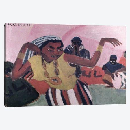 Black Dancer, 1909  Canvas Print #BMN2615} by Ernst Ludwig Kirchner Canvas Wall Art