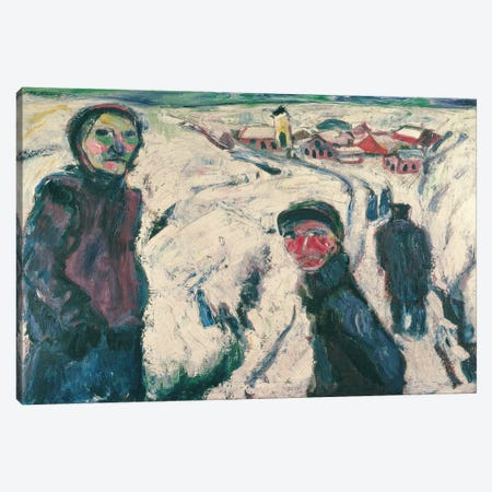 Snow Landscape, 1923  Canvas Print #BMN2616} by Ernst Ludwig Kirchner Canvas Art
