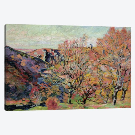 The Valley of the Sedelle in Crozant, c.1898  Canvas Print #BMN2617} by Jean Baptiste Armand Guillaumin Canvas Wall Art