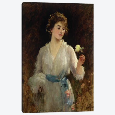The Yellow Rose  Canvas Print #BMN2622} by Sir Samuel Luke Fildes Canvas Art