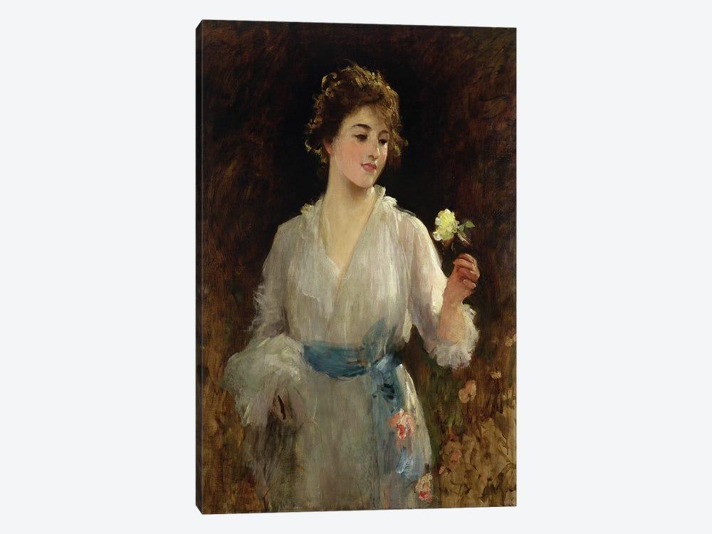 The Yellow Rose  by Sir Samuel Luke Fildes 1-piece Canvas Print