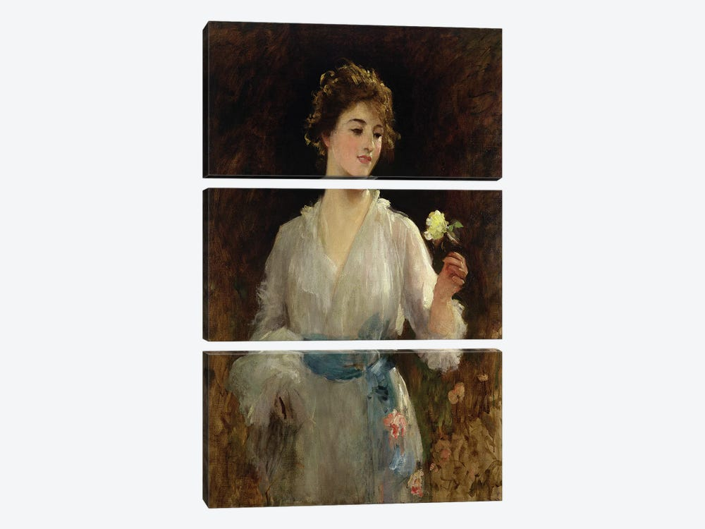 The Yellow Rose  by Sir Samuel Luke Fildes 3-piece Art Print