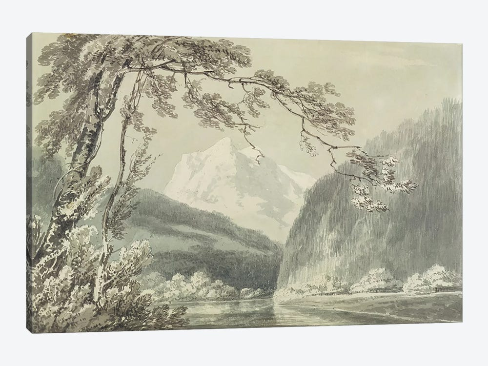 Near Grindelwald, c.1796 by J.M.W Turner 1-piece Canvas Art